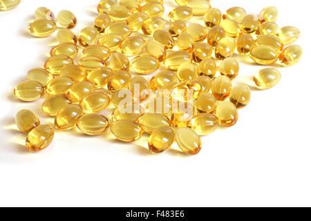 Fish oil capsules - Stock Photo