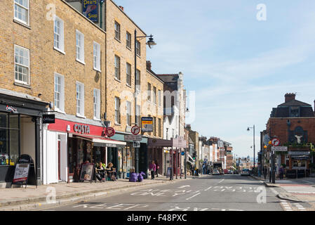 Highgate High Street, Highgate, London Borough of Haringey, Greater London, England, United Kingdom - Stock Photo