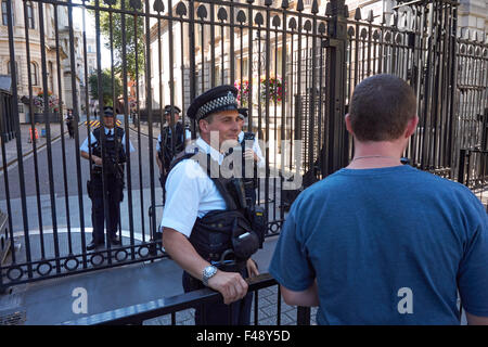 Police outside number 10 Downing Street, London England United Kingdom UK - Stock Photo