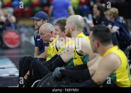 World Wheelchair Rugby Challenge, Copperbox, Queen Elizabeth Olympic Park, London UK. 15th Oct, 2015. World champions - Stock Photo