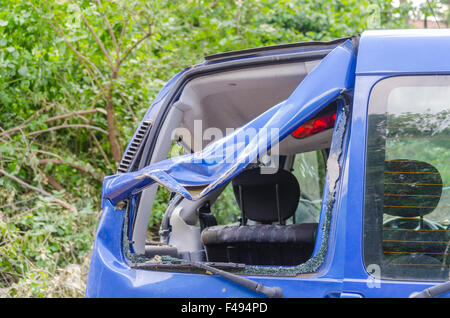 Car after storm damage - Stock Photo