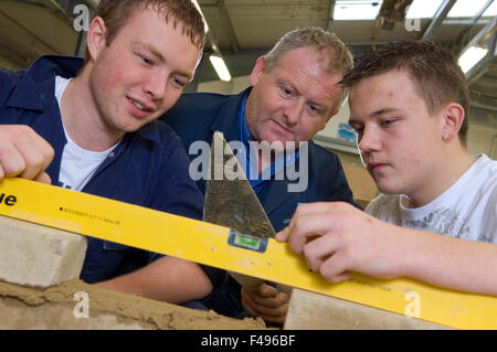 Hanham High School, Bristol construction department where they teach building and woodworking skills. - Stock Photo