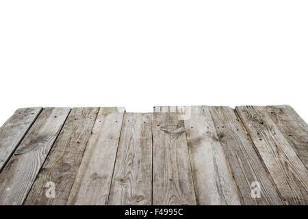 Empty wooden bridge - Stock Photo