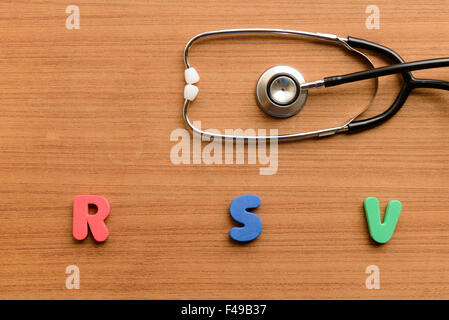 RSV (respiratory syncytial virus) - Stock Photo