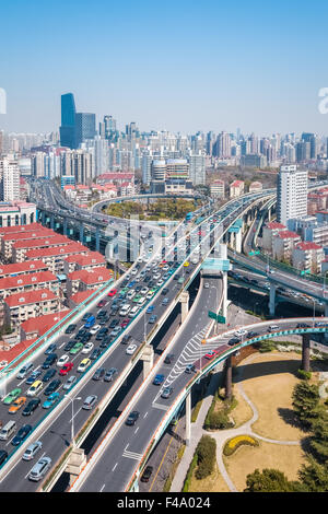 busy city road - Stock Photo