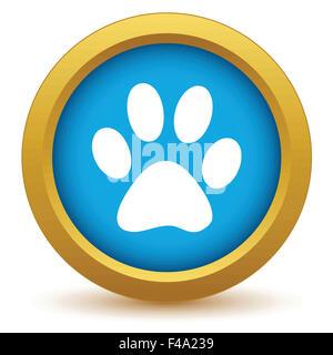 Gold animal icon - Stock Photo