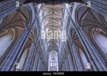 cathedral of Amiens, Picardy, France - Stock Photo