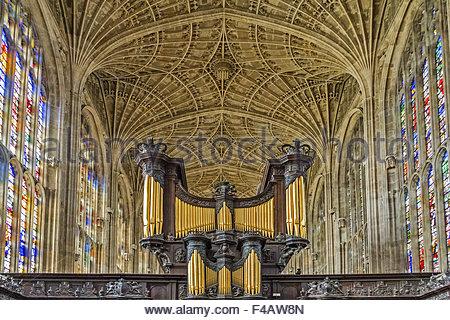King's College Chapel Cambridge UK - Stock Photo