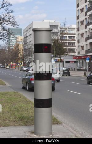Traffic enforcement camera - Stock Photo