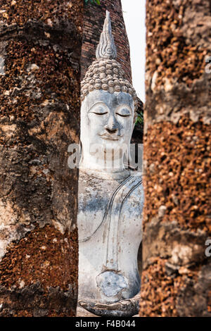 Buddha in Wat Sa Si, Sukhothai, Thailand - Stock Photo