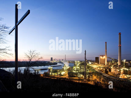 Viewpoint Alsumer mountain, Duisburg, Germany. - Stock Photo