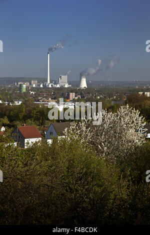 View from Tippelsberg, Bochum, Germany. - Stock Photo