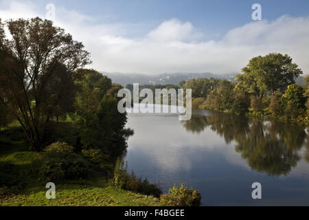 The river Ruhr, Wetter, Germany. - Stock Photo