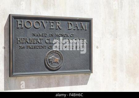 Hoover Dam in Nevada - Stock Photo