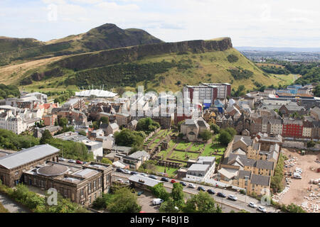 View from the Nelson Monument in Edinburgh, Scotland. - Stock Photo