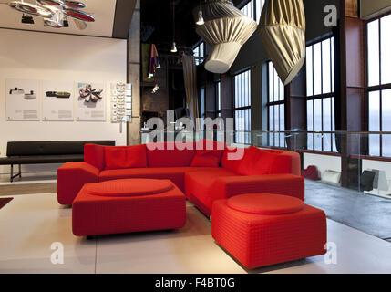 Red dot design museum, Zollverein, Essen - Stock Photo