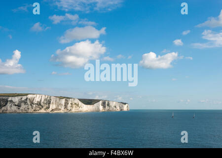 The White cliffs of Dover on the South coast of the UK - Stock Photo