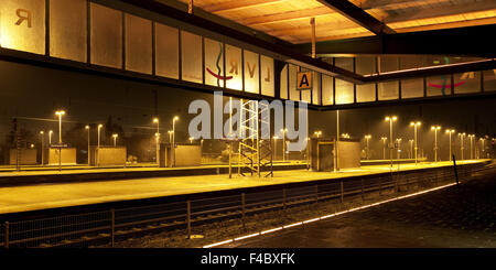 Museum station platform Oberhausen, Germany - Stock Photo