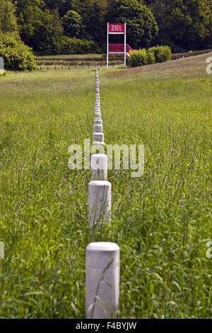 Natural obstacle Racecourse, Castrop-Rauxel - Stock Photo