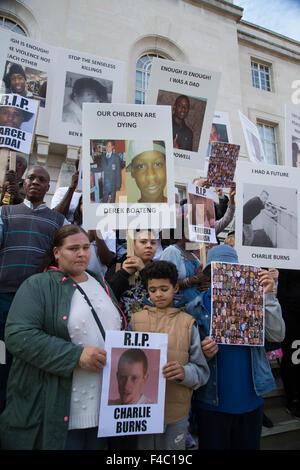 'All lives matter' March in Hackney October 11th 2015 to protest against gun and knife violence . - Stock Photo