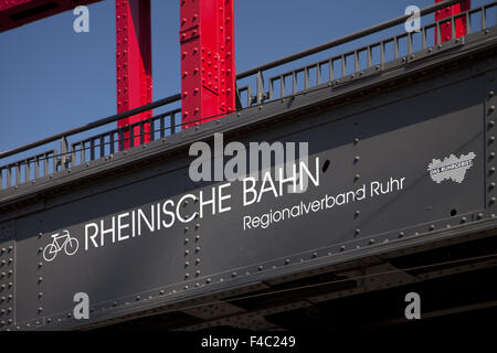 Rhenish railway bridge, Food,, Germany - Stock Photo