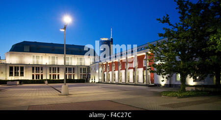 Hall building and RWE Tower, Essen, Germany - Stock Photo