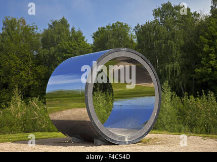 Artwork pixel tube, Kamen, Germany - Stock Photo