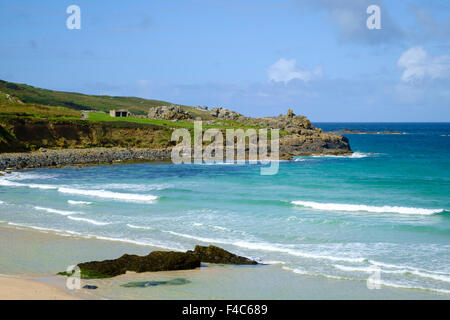 Porthmeor beach, St Ives, Cornwall, England, UK - Stock Photo