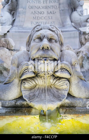 Fontana del Pantheon, Piazza della Rotonda, Rome, Italy - Stock Photo
