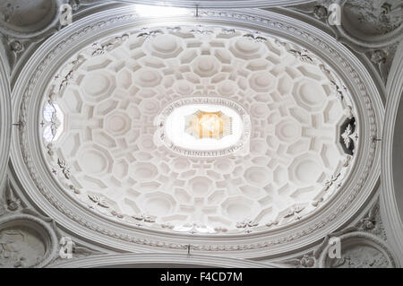 Dome of San Carlo alle Quattro Fontane church by Francesco Borromini. Rome, Italy - Stock Photo
