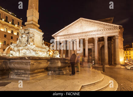 Pantheon on Piazza della Rotonda, Rome, Italy - Stock Photo