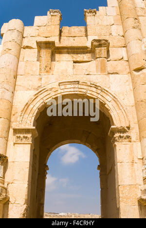 South Gate, Jerash, Jordan. Once the Roman Decapolis city of Gerasa. - Stock Photo