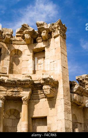 The Nymphaeum, Jerash, Jordan. Once the Roman Decapolis city of Gerasa. - Stock Photo