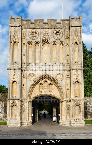 Abbeygate, the entrance to Abbey Gardens, Bury St Edmunds, Suffolk, England, UK - Stock Photo