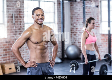 Male trainer looking at the camera - Stock Photo
