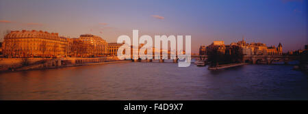 France, Paris, Ile de la Cite, Pont Neuf, View of River Seine at afternoon. (Large format sizes available) - Stock Photo