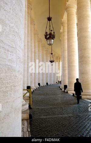 Columns in St Peter's Square in the Vatican, Rome, Italy - Stock Photo