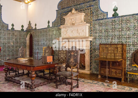 This is the interior of the Magpie Room where ambassadors and diplomats were received. - Stock Photo
