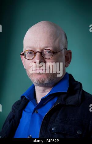 Timur Vermes, the German writer, at the Edinburgh International Book Festival 2015. Edinburgh, Scotland. 23rd August - Stock Photo