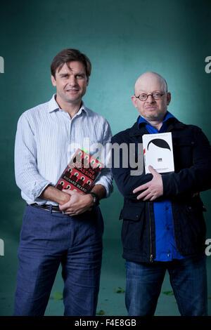 Richard Beard & Timur Vermes, at the Edinburgh International Book Festival 2015. Edinburgh, Scotland. 23rd August - Stock Photo