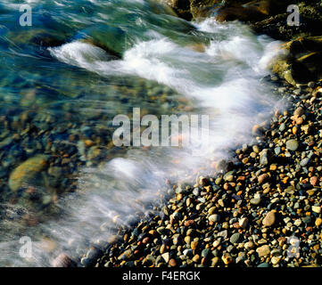 USA, Maine, Waves breaking on a Rock Background. Credit as: Christopher Talbot Frank / Jaynes Gallery / DanitaDelimont.com - Stock Photo