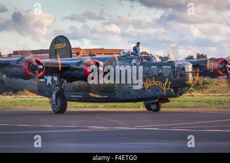 Massachusetts, Beverly, Beverly Airport, WW2-era B-24 Liberator bomber - Stock Photo