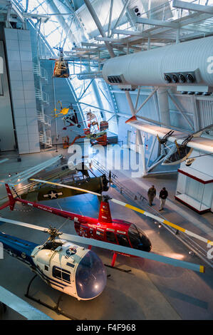 USA, Virginia, Herndon, National Air and Space Museum, Steven F. Udvar-Hazy Center, air museum, helicopters - Stock Photo