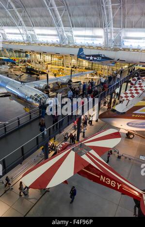 USA, Virginia, Herndon, National Air and Space Museum, Steven F. Udvar-Hazy Center, air museum, aerobatic aircraft - Stock Photo