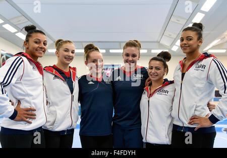 BG Media Day Lilleshall 15.10.15 GB Womens Team World Championships Glasgow 2015 - Stock Photo