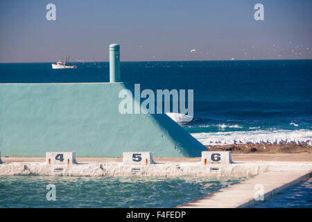 Newcastle Ocean Baths 1930s Art Deco With Tasman Sea Pacific Ocean Stock Photo Royalty Free