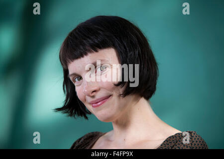 Emma Hooper, the Canadian author and musician, at the Edinburgh International Book Festival 2015. - Stock Photo
