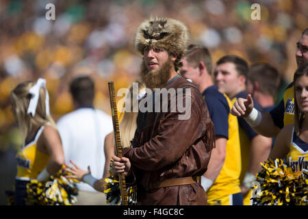 Waco, Texas, USA. 17th Oct, 2015. West Virginia Mountaineers mascot during the NCAA football game between the West Virginia Mountaineers and Baylor Bears at McLane Stadium in Waco, Texas. JP Waldron/Cal Sport Media/Alamy Live News Stock Photo