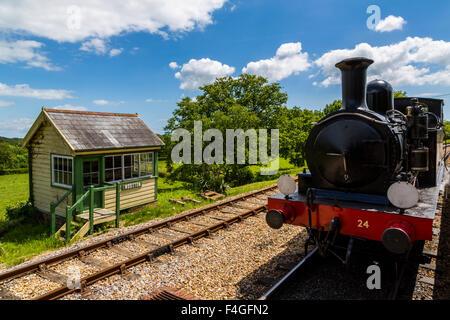 Isle of Wight Steam Railway Wootton signal box, Isle of Wight, UK - Stock Photo