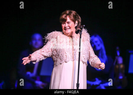 Music Artist SUSAN BOYLE brings her 2014 Tour to the Durham Performing Arts Center in Durham, NC.  Susan Magdalane - Stock Photo